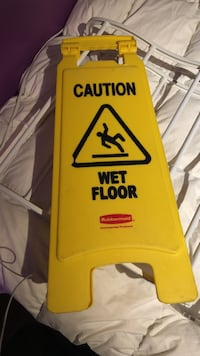yellow caution Wet floor stand Windsor Junction, B2T 1G3