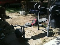 Complete Weight set not ripped, $150 free radio