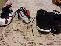 pair of black-and-white Nike basketball shoes Chicago, 60629