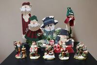 Assorted Christmas figurine collection