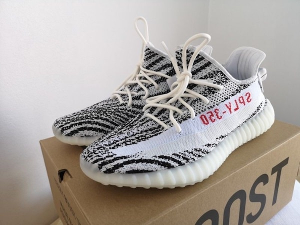 00930a96f4e1a Used pair of zebra Adidas Yeezy Boost 350 V2 on box for sale in Sugar Hill  - letgo