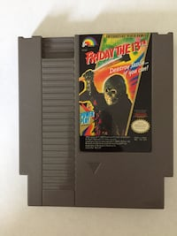 NES Friday The 13th game cartridge