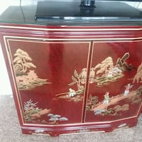 Oriental/Asian red lacquer console/cabinet Brambleton, 20148