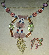pink, white, and green beaded pendant Wasilla, 99654