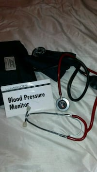 BP monitor with stethoscope