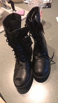 pair of black leather combat boots Charles Town, 25414