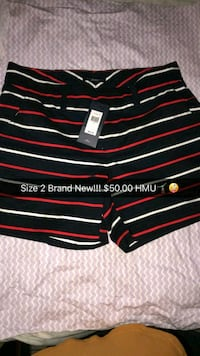 red and black stripe polo shorts Belleview, 34420