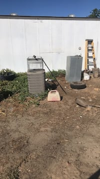two gray metal outdoor water heaters Livingston, 95334