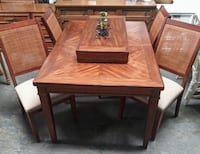 Very chic wood table with 4 chairs and leaf Cape Coral