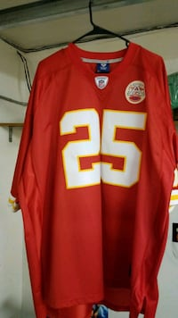 red and white 25 NFL jersey Cathedral City, 92234