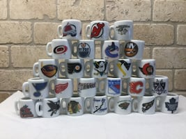 Miniature hockey mugs