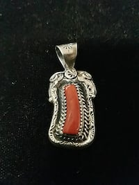 Sterling silver red corral pendant Hot Springs, 71901