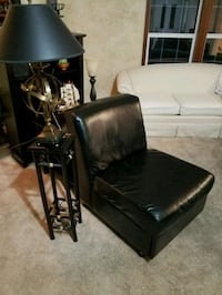 Modern black accent chair with draw couch