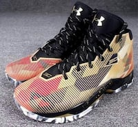 yellow-and-black Under Armour Stephen Curry basketball shoes