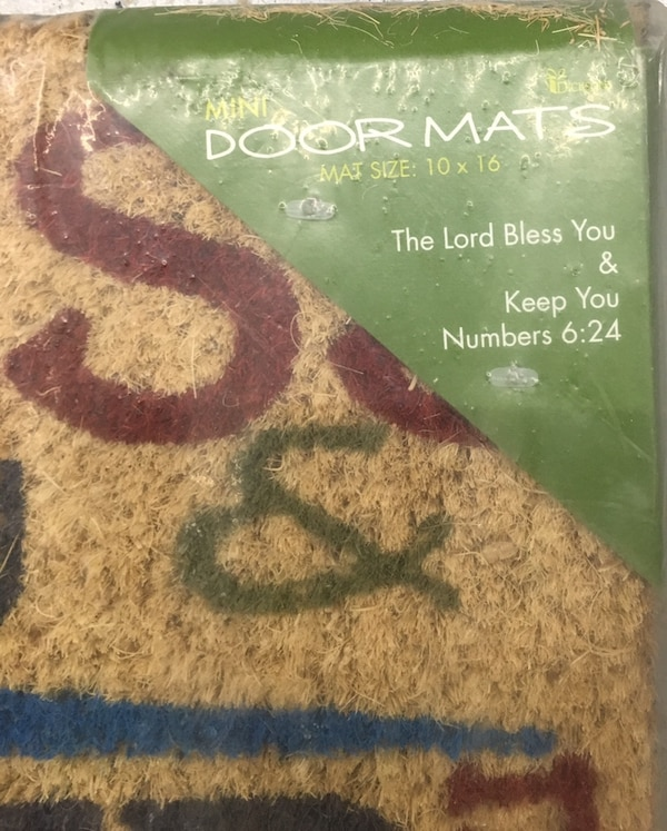 "The Lord Bless You and Keep You Numbers 6:24 Mini Door Mat 16"" x 10"" 26871abc-b1e2-4eb1-8696-ae7578117d84"