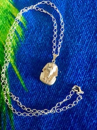 "Egyptian Pharaoh pendant necklace with 24"" inch long silver plated rolo chain / New jewelry Alexandria, 22311"