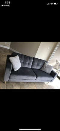 New velvet grey sofa