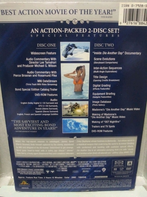 Die Another Day 007 dvd special edition c1b2006e-67f1-42c7-98aa-7e0a7b64e00e