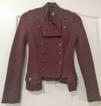 FREE PEOPLE Burgundy Sweater Jacket - Size 0 Toms River