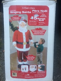 Animated Santa (Signs and Dances) Langley Township