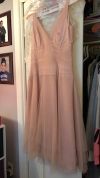 Dust rose mesh ballerina style dress. Custom fit size 12. Perfect for prom. New Windsor, 12553