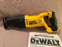Brand new never used DeWalt 20V cordless reciprocating saw. Tool only  Vacaville, 95687