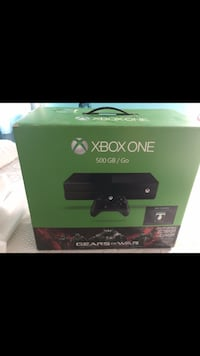 Xbox One console with controller box