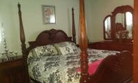 KING SIZE 4 POSTER BED, 2 END TABLES, 1 LRG DRESSER & AMOIRE. ALL $700 WENDELL