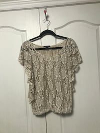 Off-white lace sheer shirt Vaughan