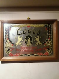 red and brown Coors pub mirror Murfreesboro, 27855