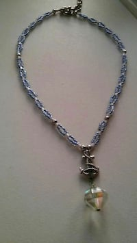 silver anchor beaded choker California, 20619