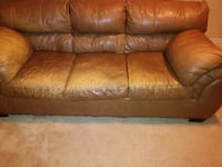 2 Brown leather 3-seat sofa Lawrenceville, 30045
