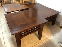 Solid wood three tables - coffee tables and two end tables 573 mi