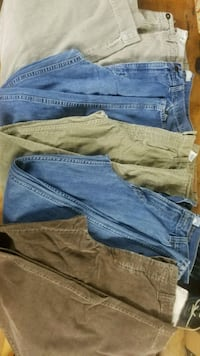 all 5 pair are 34x34 and are AE, levi, oldnavy Pendleton, 29670