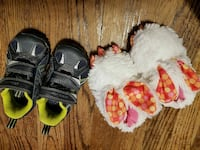 Boys shoes and bunny slippers