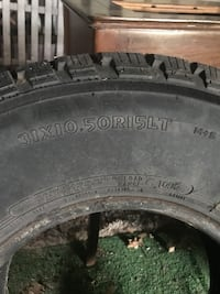 Black auto tire with tire Muncy, 17756