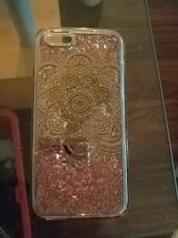 brown floral glittery iPhone case Victoria