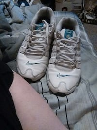 white-and-blue Nike Shox Lafayette