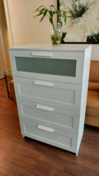 IKEA 4- drawer dresser, white, frosted glass Toronto, M4P 2L3