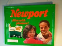 Rare 1987 Metal Newport Cigarette Advertising Sign Massillon, 44647