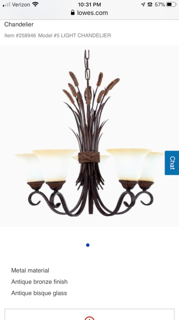 Portfolio 26-in 5-Light Bronze Tinted Glass Standard Chandelier cb440b98-1697-4dda-83e8-6ad72db889b7