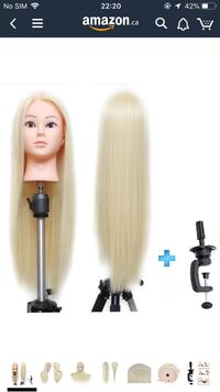 Hair Mannequin Head  Hairdressing head with clamp Toronto, M1B 1X6