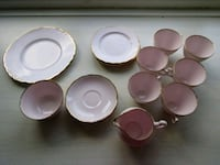 Royal vale pink ceramic teaset lot