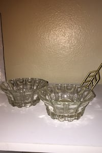 Two Glass candle holder
