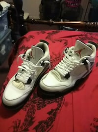 pair of white-and-red Nike basketball shoes Phenix City, 36869