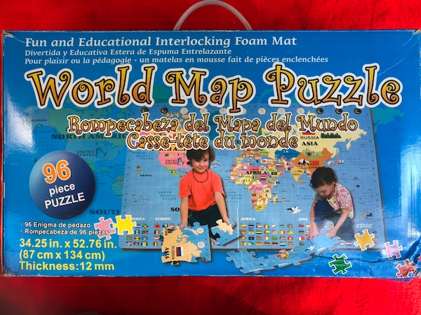 Giant World map puzzle - foam pieces