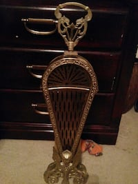 Vintage brass fireplace screen Fort Worth, 76137