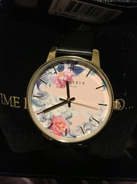 Ted Baker Floral Watch With Black Strap Whitchurch-Stouffville, L4A