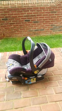 baby's purple and black car seat carrier McLean, 22102
