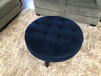 Navy Blue Tufted Ottoman Herndon, 20171